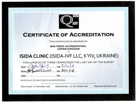 International quality standards: for the second time ISIDA received QHA Trent accreditation certificate